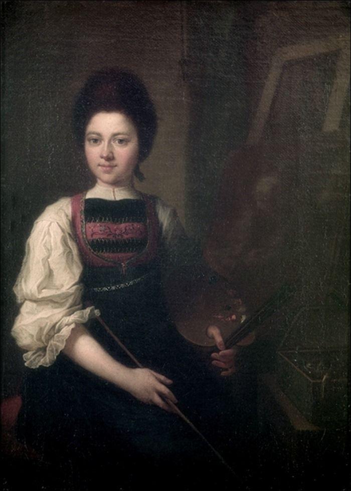 Angelica Kauffman · Autoritratto · 1747-59 · Uffizi · Firenze