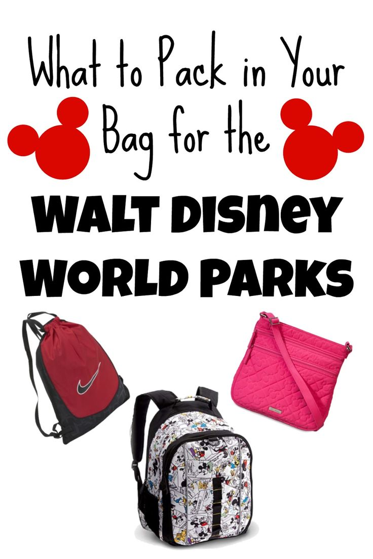 (Image credit (bags): ebay.com and disneystore.com)   When spending the day at the parks at Walt Disney World, the last thing you want to...