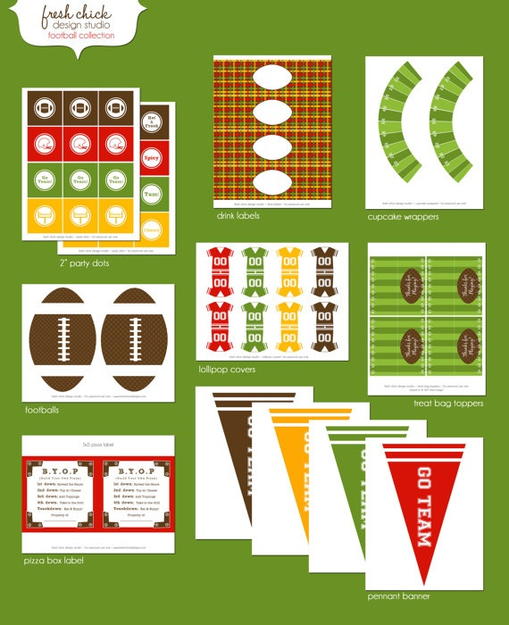 football party printable etsy