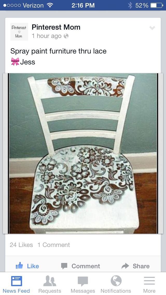 Cool- lace chair- have to do this