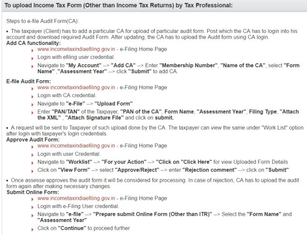 tax audit report format