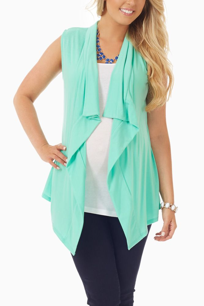 Mint Green Maternity Vest #maternity  #cutematernityclothes