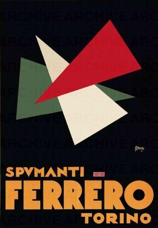 Poster by Maga (Giuseppe Magagnoli), 1930, Spumanti Ferrero.