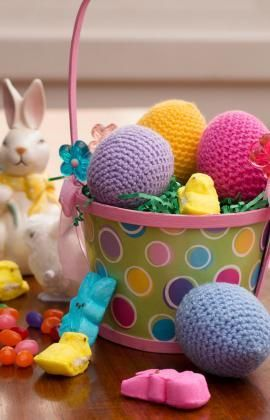 Easter Eggs Free Crochet Pattern from Red Heart Yarns