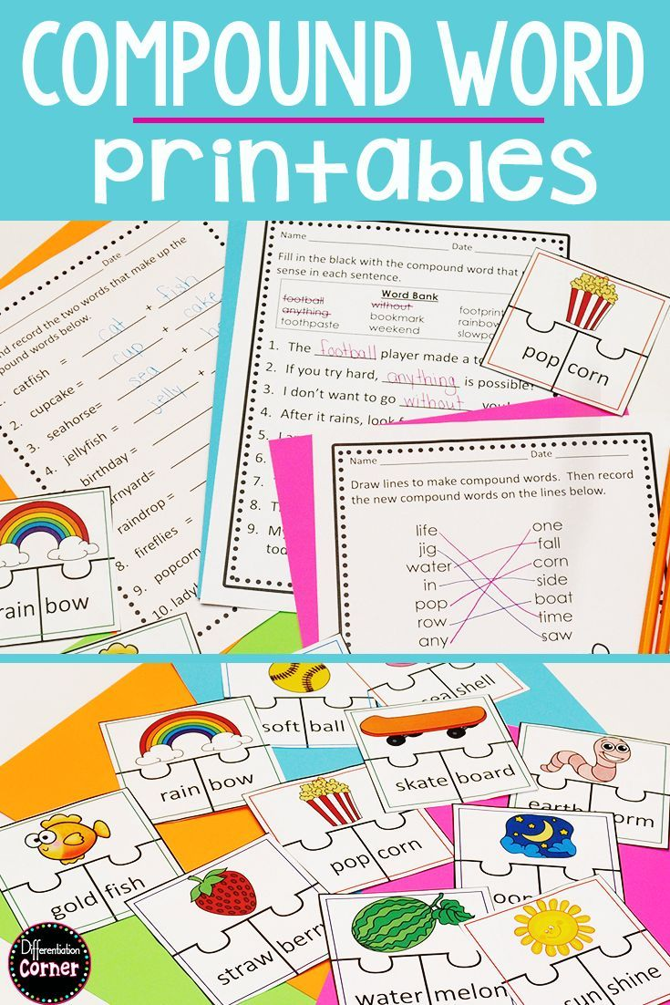 The Best Teaching Method For Compound Words Is A Hands On Approach For First And 2nd Grade St Compound Words Compound Words Worksheets Kindergarten Worksheets [ 1102 x 735 Pixel ]