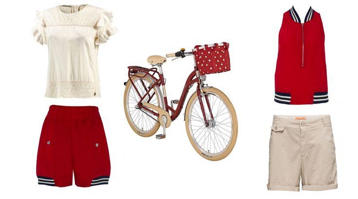 Mit dem Fahrrad in die City - erstellt mit collageAd