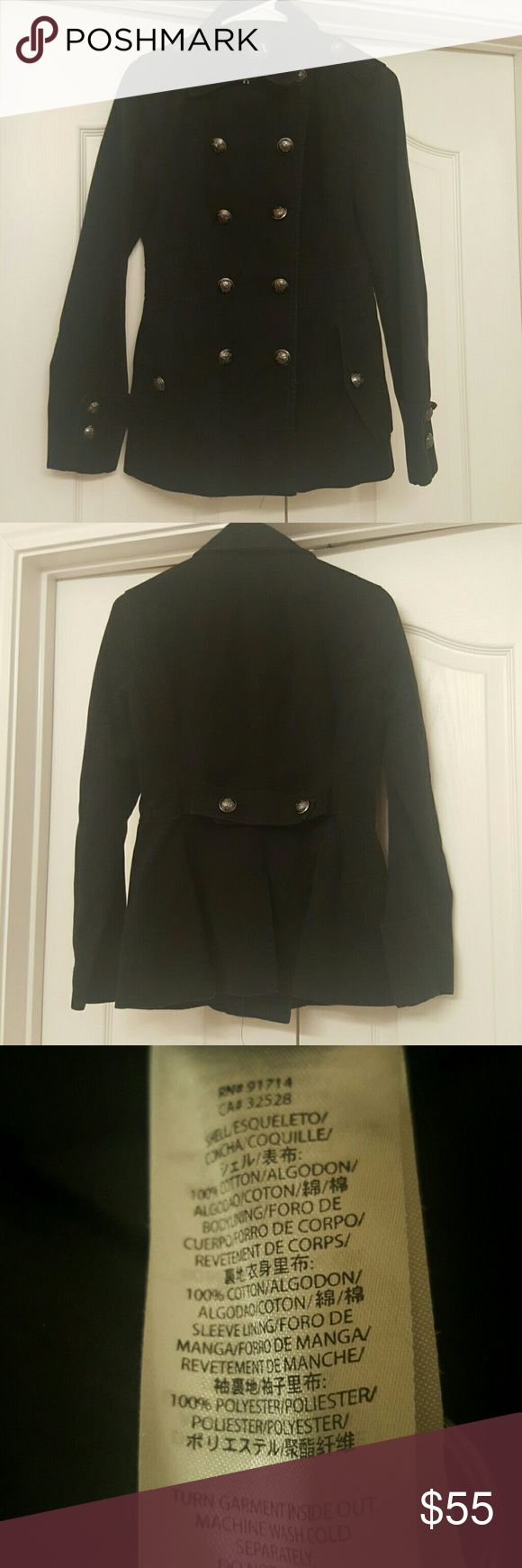 Armani Exchange Coat Military style. Perfect condition. 100% cotton. Dark blue. Armani Exchange Jackets & Coats