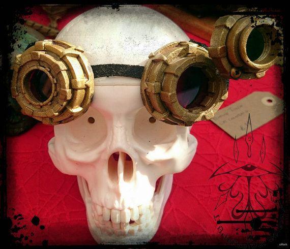 Occhiali Steampunk Ottone Anticato di ArteficeDeiGolem su Etsy