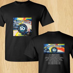 The Moody Blues Days of Future Passed tour concert 2018 black tees; Tshirt 100% Cotton; Available Men's size S-3XL;