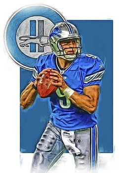 Joe Hamilton - MATTHEW STAFFORD DETROIT LIONS OIL ART
