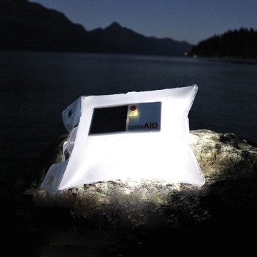 This #solar light comes in a waterproof bag - a great thing to have in an emergency... or just out camping.