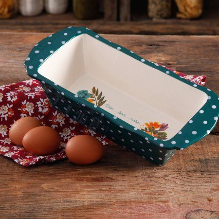 "The Pioneer Woman 11"" Retro Dots Loaf Pan - Walmart.com"
