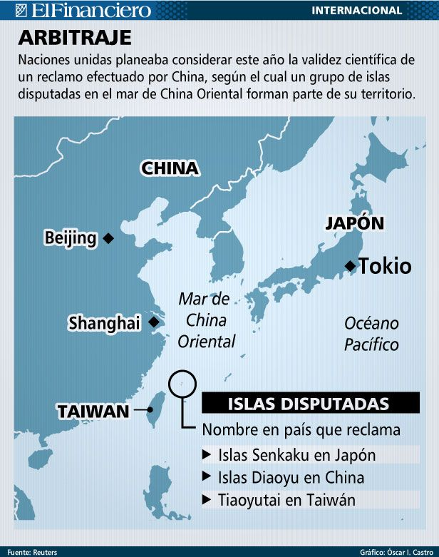 China se pelea por Islas. 25 de noviembre 2013.