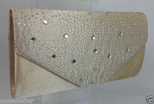 GOLD SPARKLY-DIAMANTE-SATIN-CLUTCH-BAG