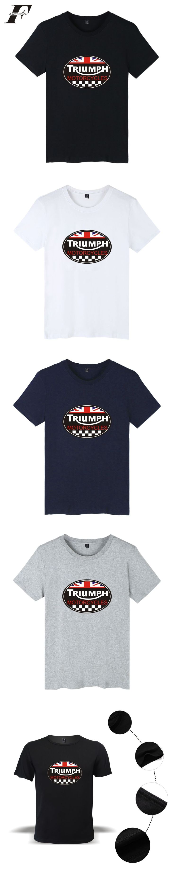 LUCKYFRIDAYF 2017 TRIUMPH MOTORCYCLE New Style Casual Cool Men/Women Short Sleeve T Shirt Summer Clothes With Plus Size 4XL