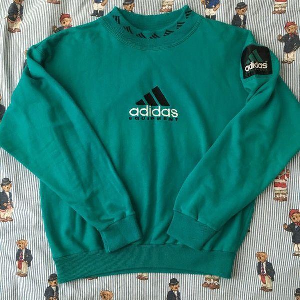 Collections Image Of Vintage Turquoise Adidas Equipment Sweatshirt M Estas En El Lugar Correcto Para Decor Aq In 2020 Vintage Hoodies Sweatshirts Retro Outfits