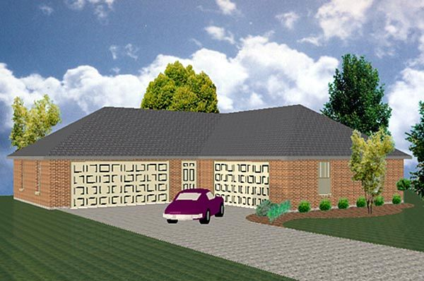 4 Car Garage House Plans
