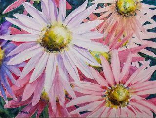 Sheffield Mums, 12x16 $195. #watercolor #painting #art #MasterArtist