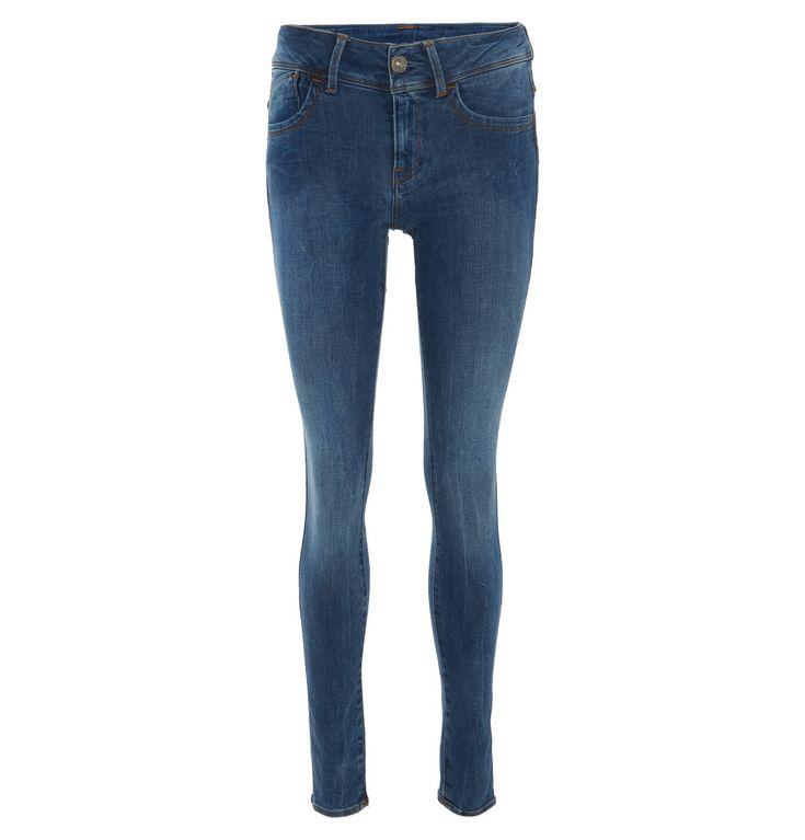 """Jeans """"Lynn"""", Skinny Fit, breiter Bund, helle Waschung – GALERIA Karstadt Kaufhof"""