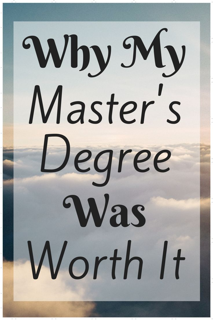 Considering going to school for your master's degree? It was one of the best things I could have done! See why a master's degree could be worth it for you.