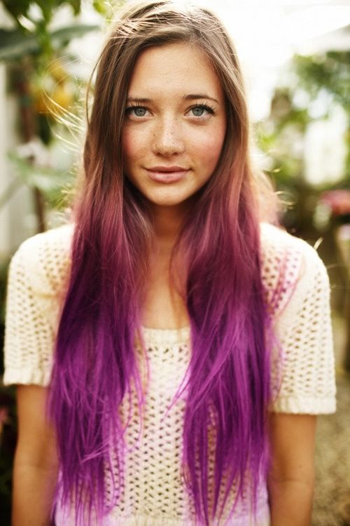 You wanted to stay simple, but still stand out so you choose to dye your tips purple