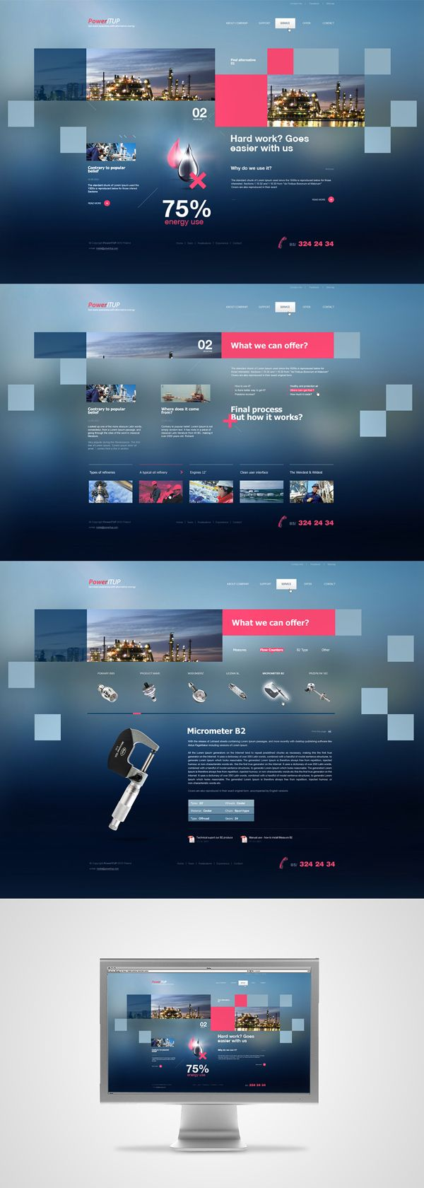 Blue web design