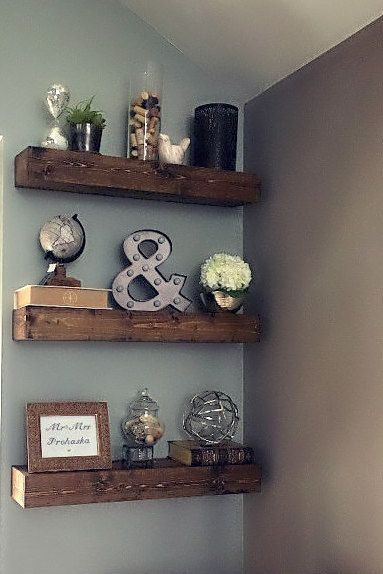 Living Room Shelf IdeasRustic Floating Shelves