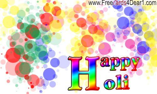 Happy Holi Greeting ECard!