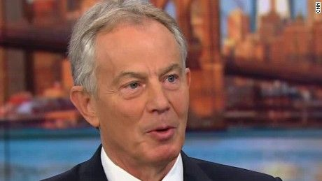 """Former British Prime Minister Tony Blair says he's sorry for """"mistakes"""" made in the U.S.-led invasion of Iraq in 2003 but doesn't regret ousting Saddam Hussein."""