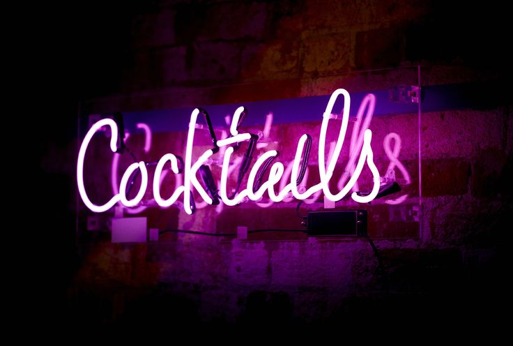 Neon Cocktail Sign at Christmas Party World Birmingham 2014. (Photocredit Vivid Experience Ltd)