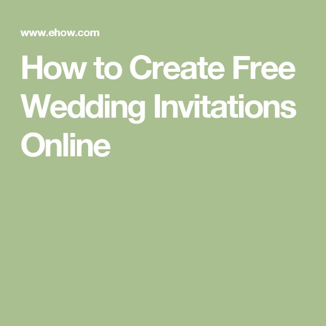 How to Create Free Wedding Invitations Online