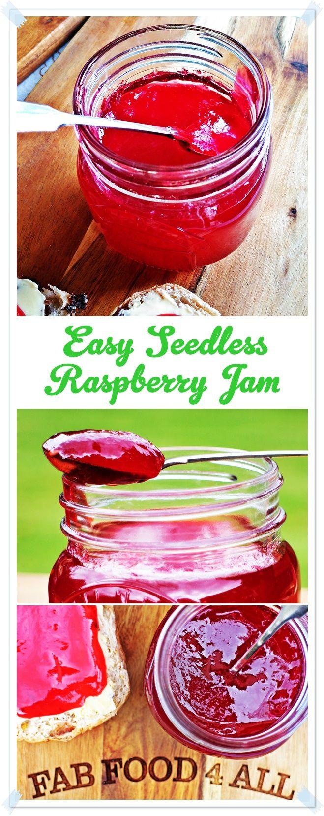 Easy Seedless Raspberry Jam Fab Food 4 All In 2019