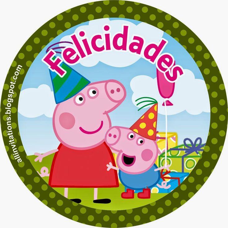 Etiqueta redonda de Peppa Pig