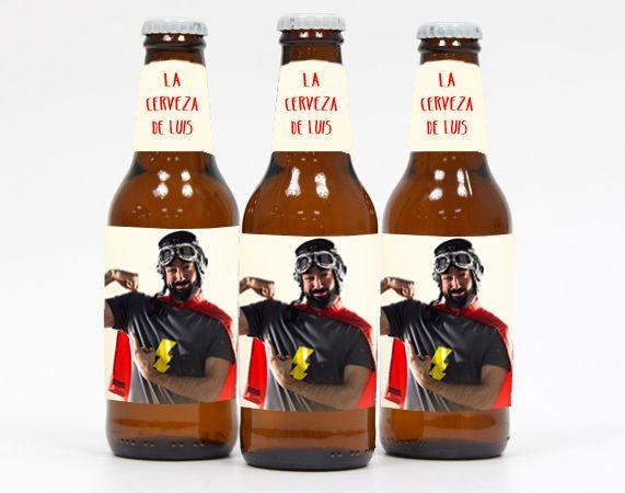 Cerveza personalizada con foto