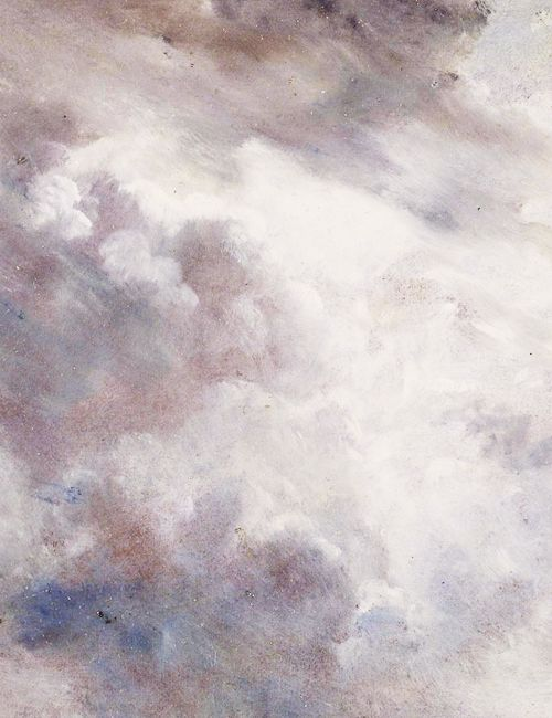 Dark Cloud Study (detail), John Constable, 1821//