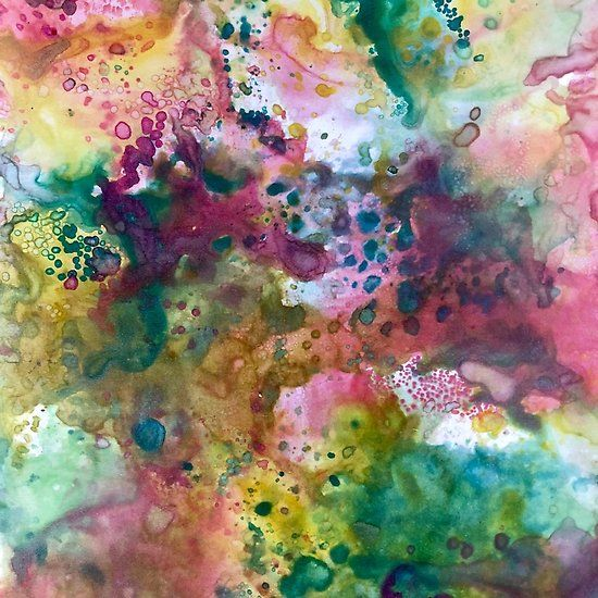 Rainbow Inky Oxide Splotches