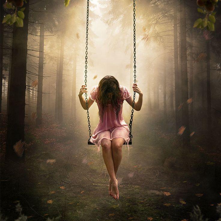 Montagem no Photoshop: Garota na floresta   ::Tutoriais Photoshop::