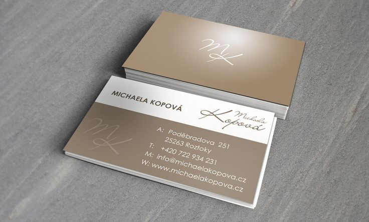 Design of business cards for cosmetic studio Michaela Kopová #corporatedesign #businesscard #cosmetic #design #ci