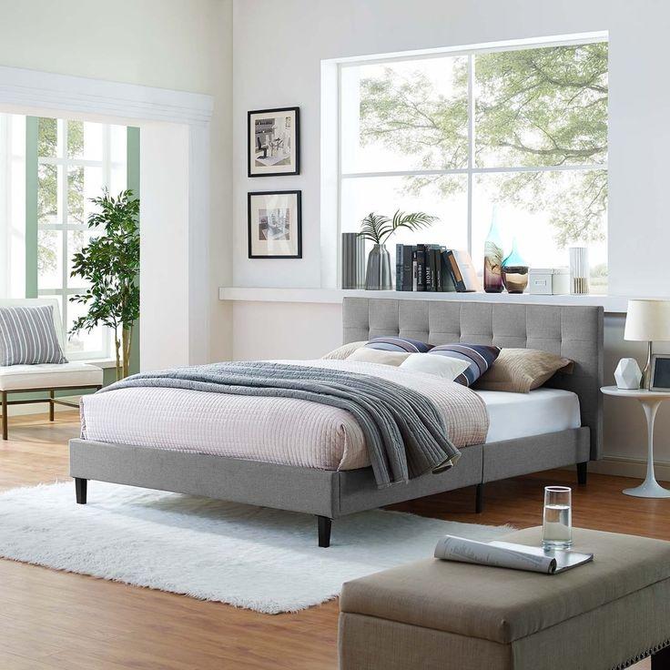 Linnea Tufted Full-Size Platform Bed