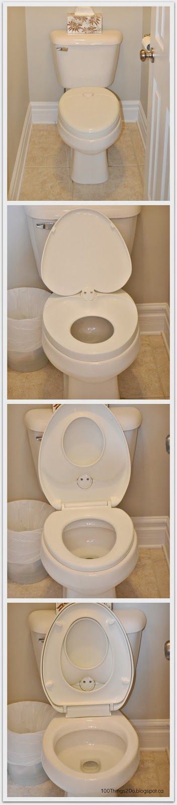 All-in-one toilet seat with sizes for the whole family. Little Butt Seat.