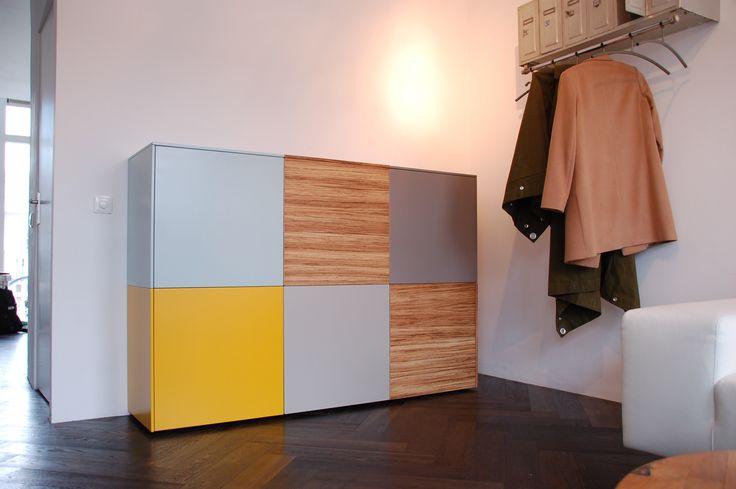 Nonoo 23 Opruim kast, design kast, maatkast. Ook zwevend te monteren.