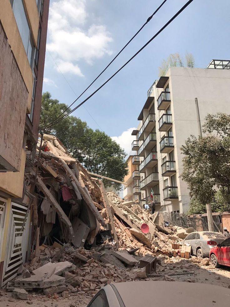 15 Edificios antes y despues de el sismo en Mexico