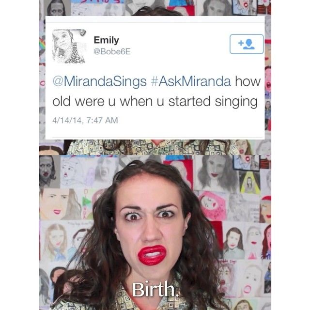 How old were u when u started singing? Birth.