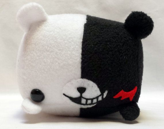 Rectangle Animals Monokuma Plush READY TO SHIP by StripedDoll