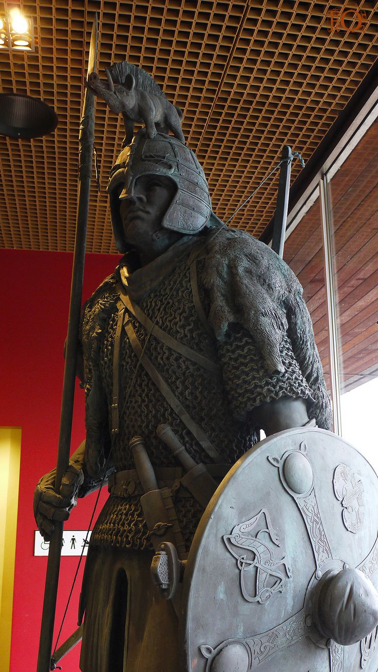 Anglo Saxon Warrior Potteries Museum This statue of an Anglo Saxon Warrior…