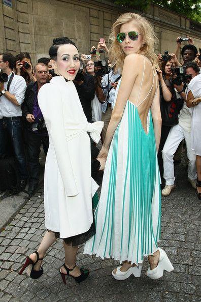 Michelle Harper at Valentino Arrivals Paris Fashion week in Chrissie Morris