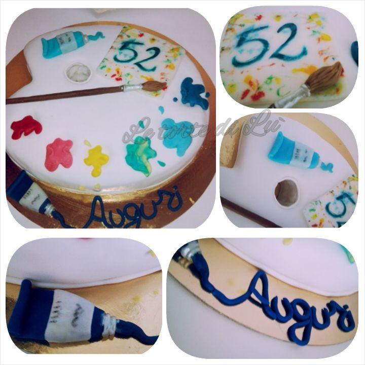 Cake tavolozza pittore