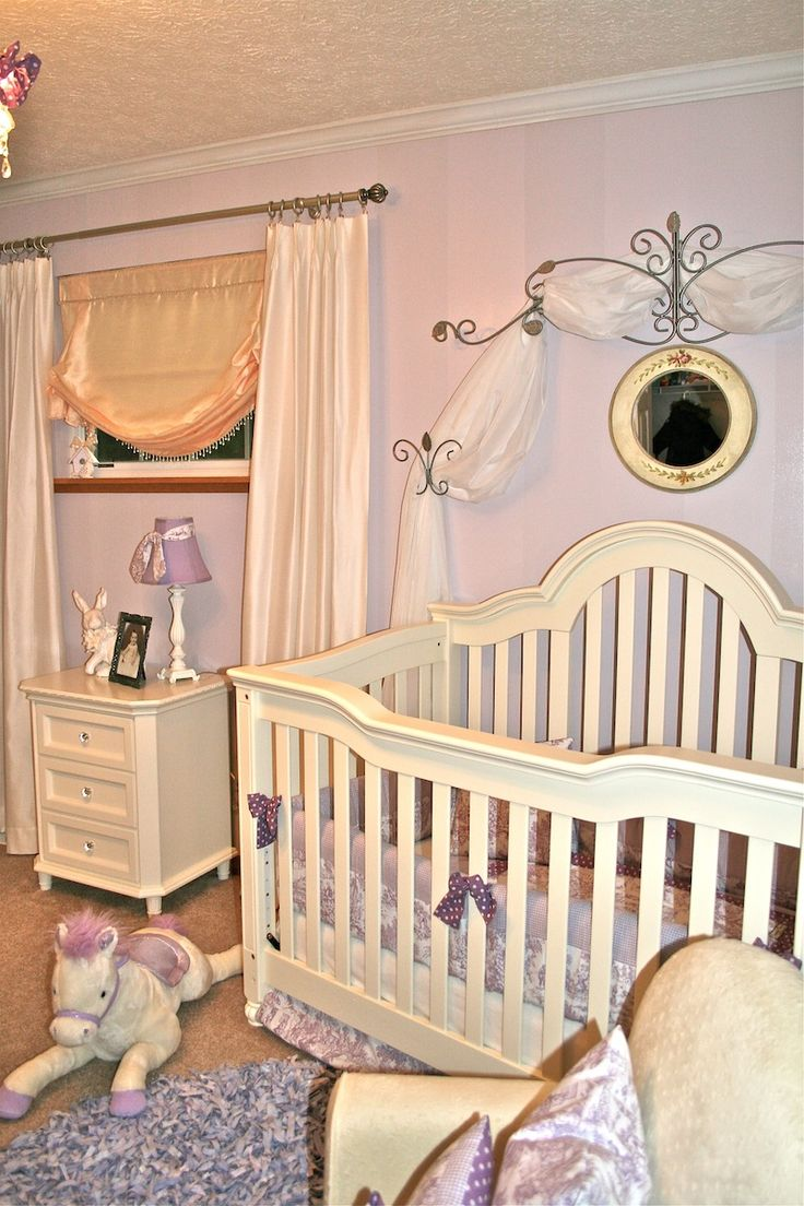 Design Dazzle European Toile And Lavender Baby Nursery » Design Dazzle but with pink of course
