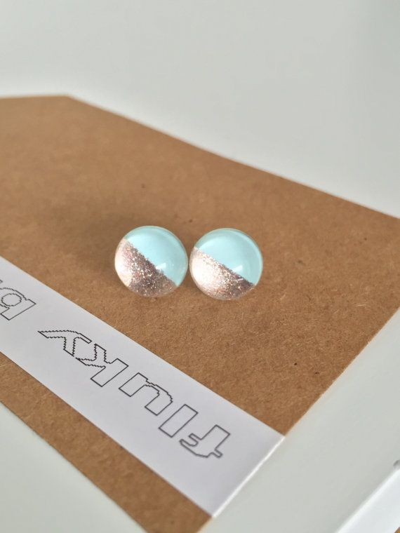 Stud earrings. 10mm. Bold bright unique fun by flukybydesign