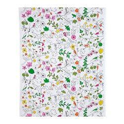 LUDOVIKA tecido a metro, multicor pássaros, branco Largura: 150 cm Repetição do padrão: 92 cm Superfície: 1.50 m²